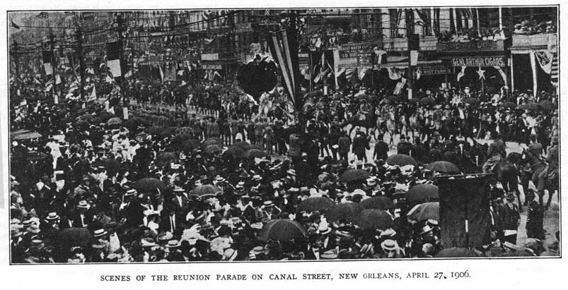 UCV 16th Reunion parade, Canal Street, New Orleans, April 27, 1906.