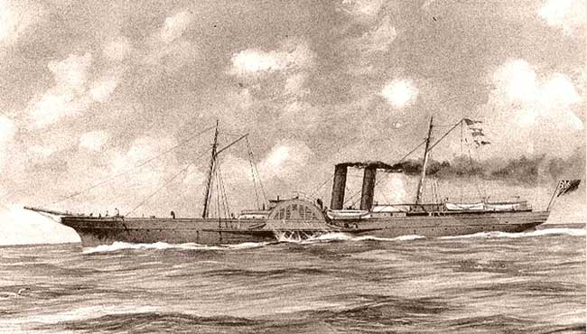 Blockade runner, Advance, sometimes known as the A.D. Vance. The Florie probably looked like this.