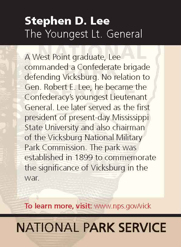 About Gen. Stephen D. Lee, by the National Park Service.