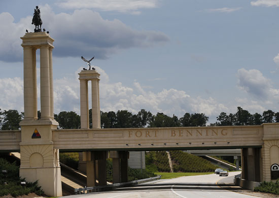 Fort Benning, near Columbus, Georgia, entrance.