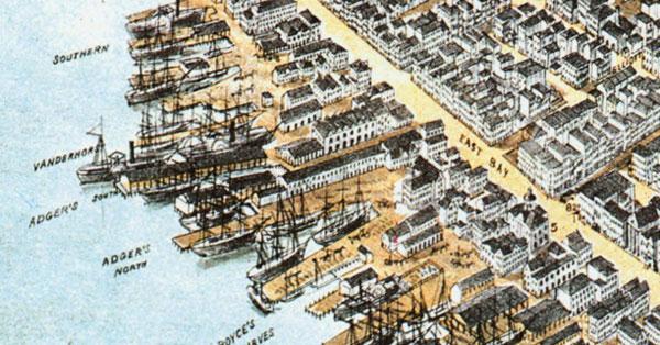 Adger's Wharf, 19th century.