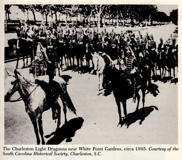 Charleston Light Dragoons may have been organized as early as 1706. Fought in all wars incl. WWI. Ended 1948.