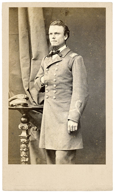 John Grimball, lieutenant on the CSS Arkansas in 1862, later of the Shenandoah. This photo circa 1864.