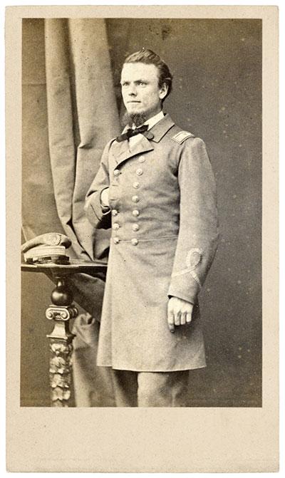 John Grimball, lieutenant on the CSS Arkansas in 1862, later of the Shenandoah. This photo circa 1864.