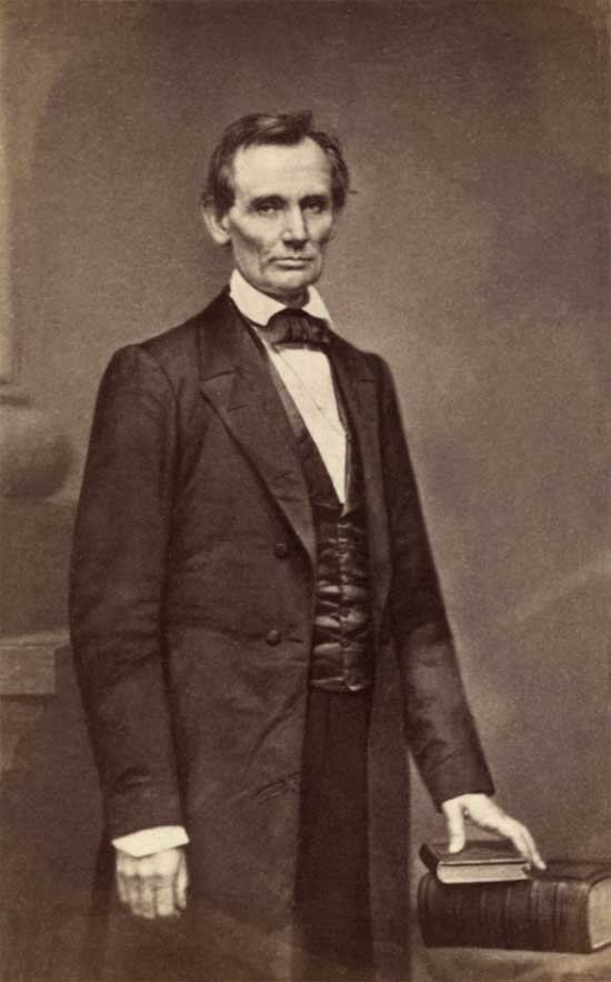 Abraham Lincoln in 1860, the day of his Cooper Union speech. Photo by Matthew Brady.