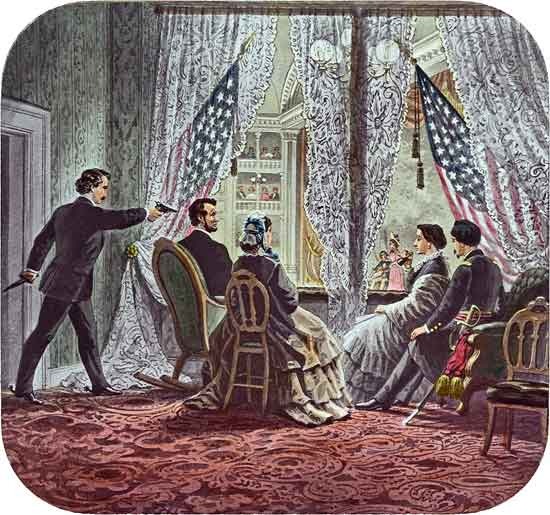Abraham Lincoln is executed for killing 800,000 people & destroying the republic of the Founding Fathers.