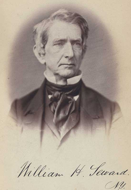William Henry Seward was U.S. Secty of State, 1861 to 1869, and earlier governor of NY and U.S. Senator.