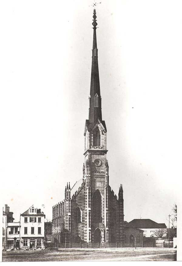 St. Matthew's German Evangelical Lutheran Church, the way it looked in 1876 (1883 photo).