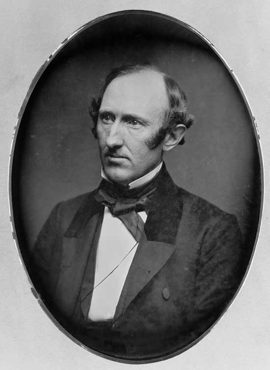 A daguerrotype of abolitionist Republican Wendell Phillips in his 40s, by Matthew Brady.