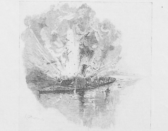 CSS Arkansas explodes August 6, 1862, but not before achieving immortality.