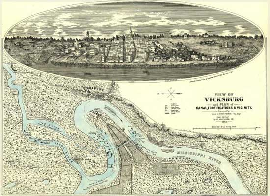 Vicksburg, Mississippi, 1863, one yr. after the daring exploits of the CSS Arkansas.