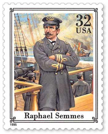 Admiral Raphael Semmes, 1995 U.S. postage stamp commemorating him.