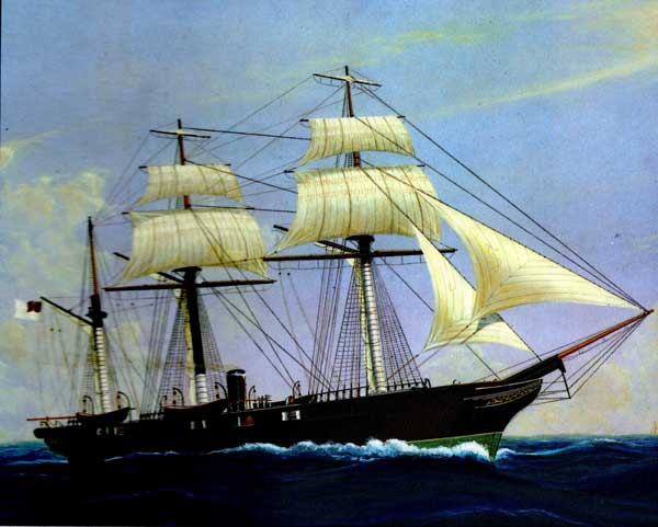 CSS Alabama, the most successful commerce raider in maritime history.