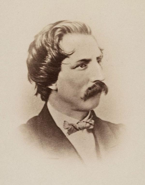 Artemus Ward, nom de plume of Charles Farrar Browne, humor writer, comedian.