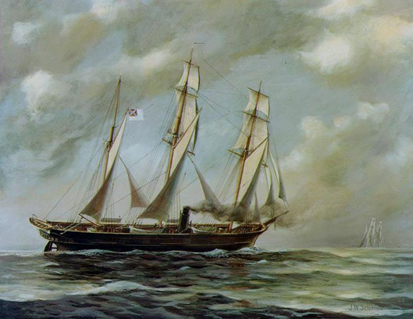 CSS Alabama, the greatest commerce raider in maritime history.