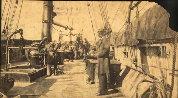 On the CSS Alabama, Cape Town, South Africa, 12 August 1863.
