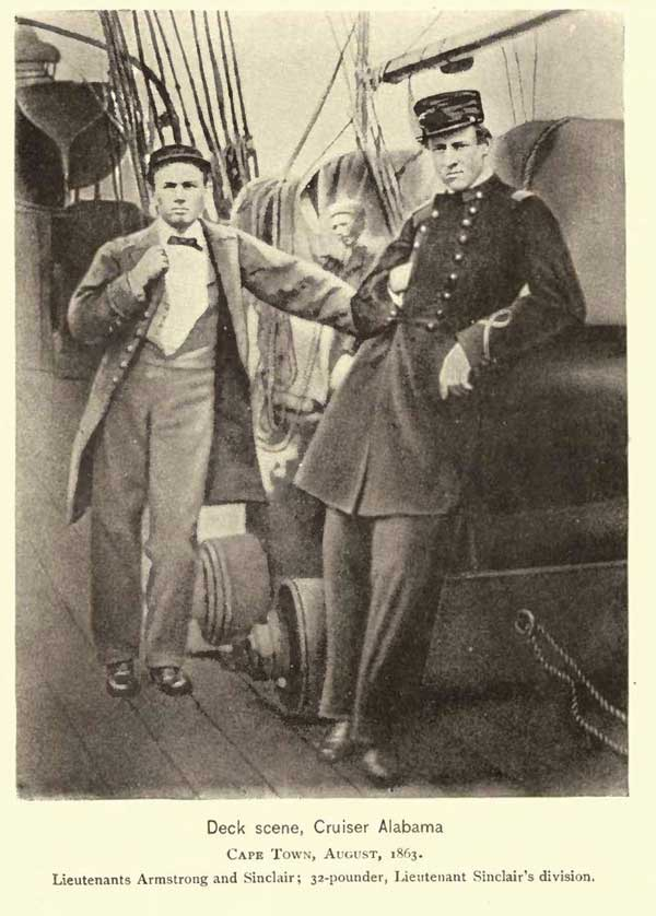 Lts. Armstrong and Sinclair on the Alabama in August, 1863.