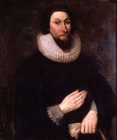John Winthrop, English Puritan lawyer, led colonizers to Mass. Bay Colony in 1630.