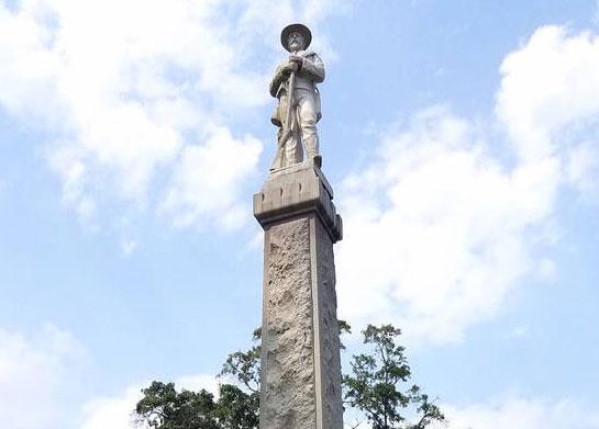 Century old Confederate monument, McDonough Sq., McDonough, Georgia before removal.