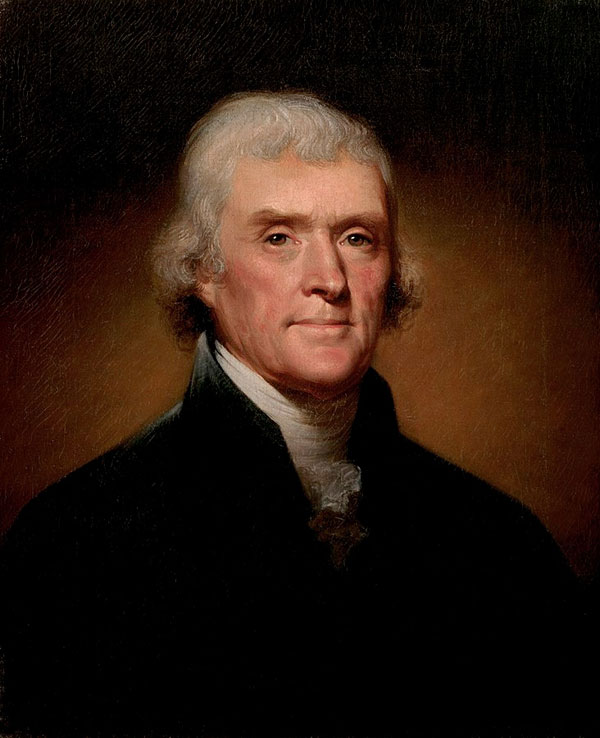 Thomas Jefferson, third president of the United States.