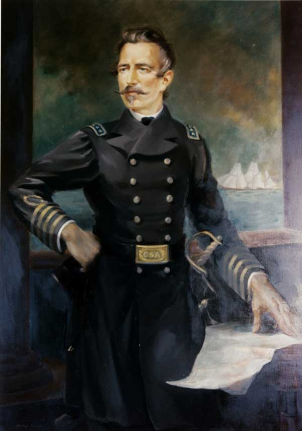 Portrait of Rear Adm. Raphael Semmes by Maliby Sykes.