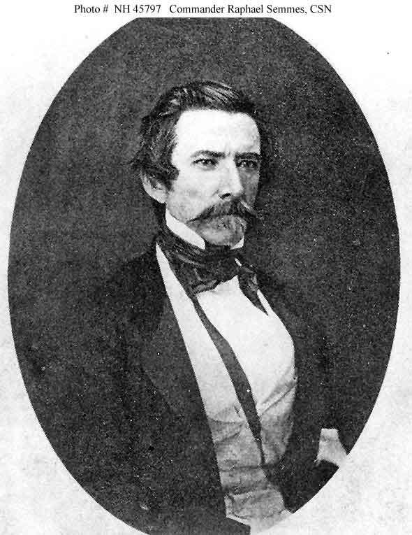 Commander Raphael Semmes, Confederate States Navy.
