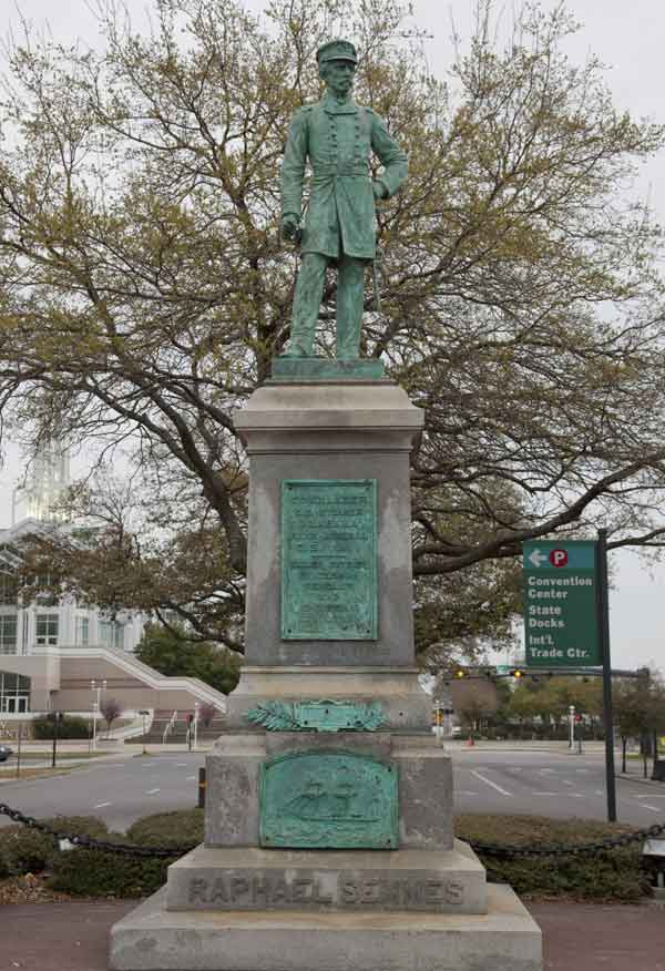 This magnificent 120 yr old statue was removed by Repub. mayor Sandy Stimpson June 5, 2020. See NOTE below.