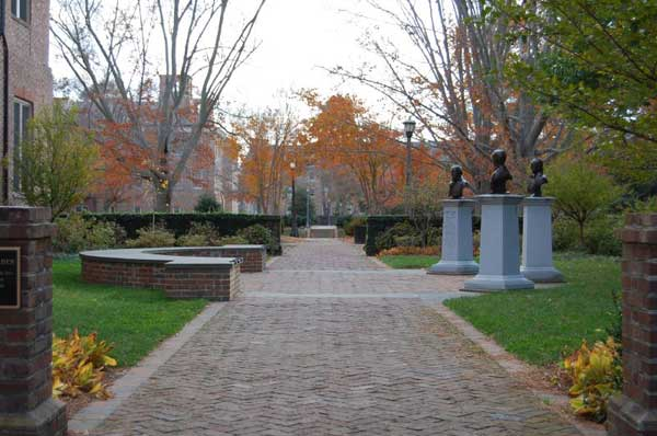 Tyler Mem. Garden at Wm. and Mary, tribute to Lyon Gardiner Tyler, his father and grandfather.