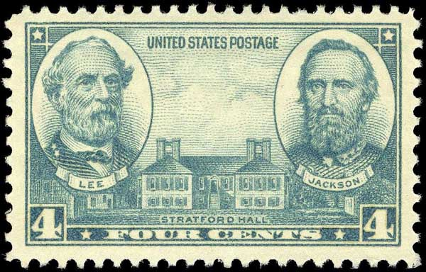 Robert E. Lee, Stonewall Jackson and Stratford Hall, Army Issue of 1936.