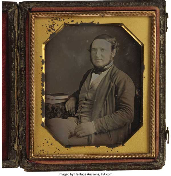 Earliest known photograph of Judah Benjamin, probably mid-1830s or so.