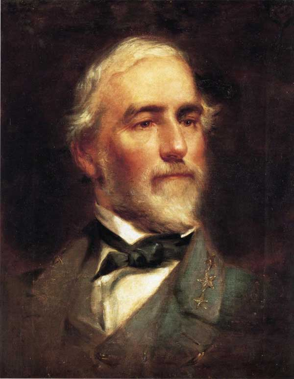 Robert E. Lee, oil on canvas, by Edward Calledon Bruce, 1865.