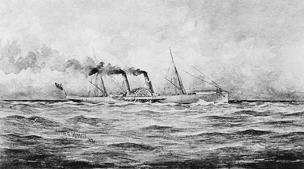 The SS Banshee. The Little Hattie probably looked like this.