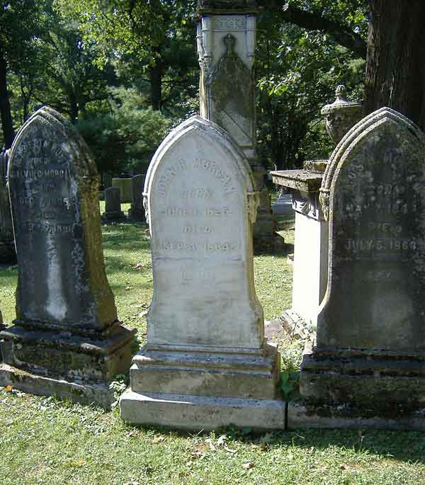 Morgan's grave, in Lexington Cemetery, Lexington, KY. He was surprised in Greeneville, TN and killed Sept. 4, 1864.
