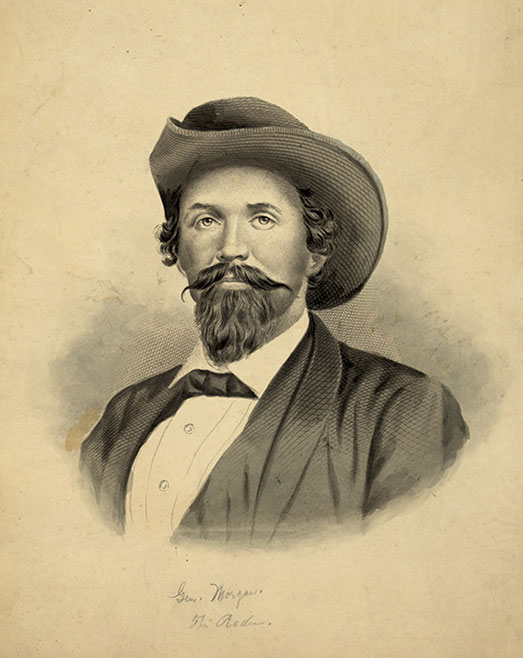 """""""Thunderbolt of the Confederacy,"""" Gen. John Hunt Morgan, born in Alabama in 1825, spent most of his life in Kentucky."""