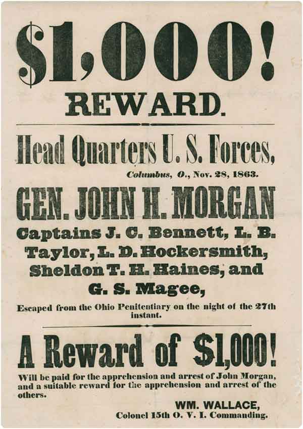 Reward poster issued a year later.