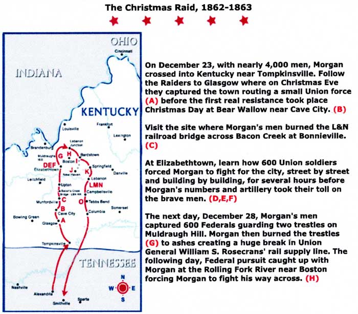 Map with details of the Christmas Raid.