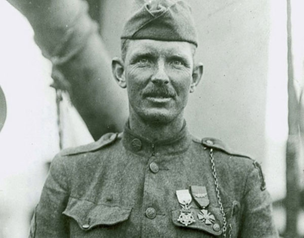 Alvin Cullum York, a/k/a Sgt. York, highly decorated WWI soldier from Tennessee.