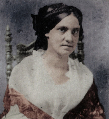 Phoebe Yates Levy Pember, around 1855. She was born and raised in Charleston, SC.