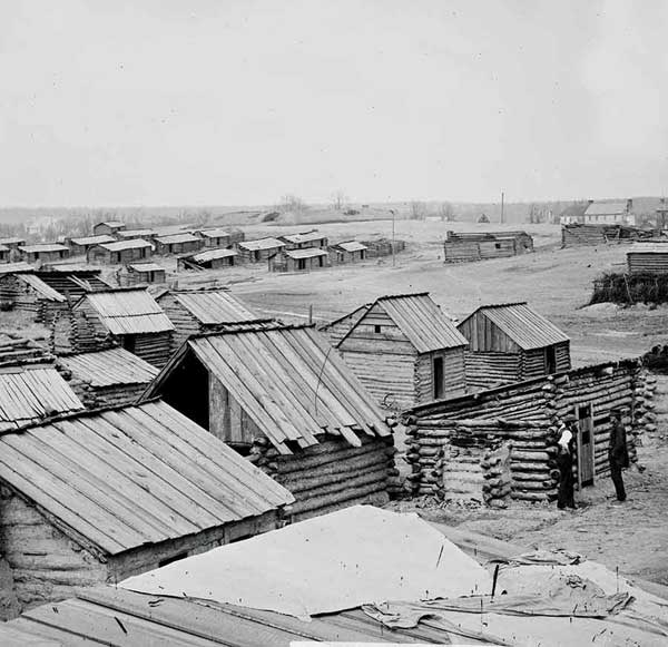 Library of Congress: Abandoned Confederate camp, 1861-1862.