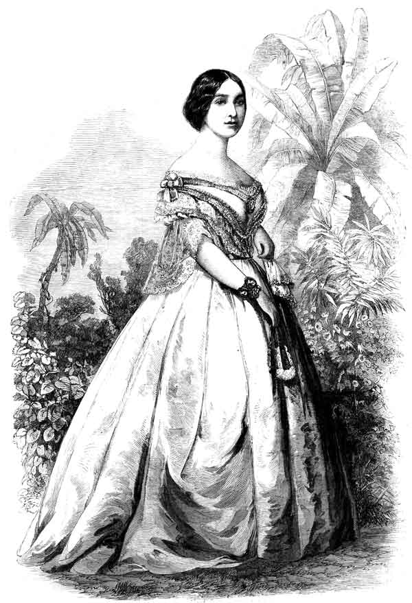 Varina Howell Davis, First Lady of the Confederate States, in Frank Leslie's Illus. Newsp, 1862.