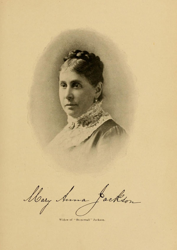 Mary Anna Jackson in 1895, 32 years after Stonewall Jackson's death.