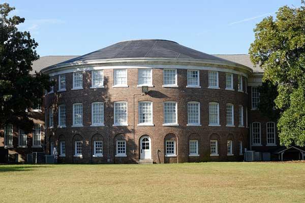 Rear of Davidson Hall, Coker Univ., Hartsville, SC, photo courtesy of Jud McCranie.