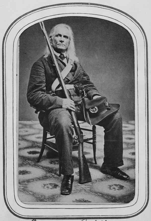 Esteemed Virginian Edmund Ruffin in the uniform of the Palmetto Guard, with whom he was serving.