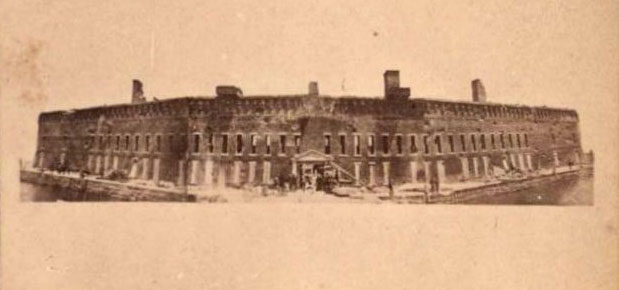 Fort Sumter, 1861, before the bombardment.