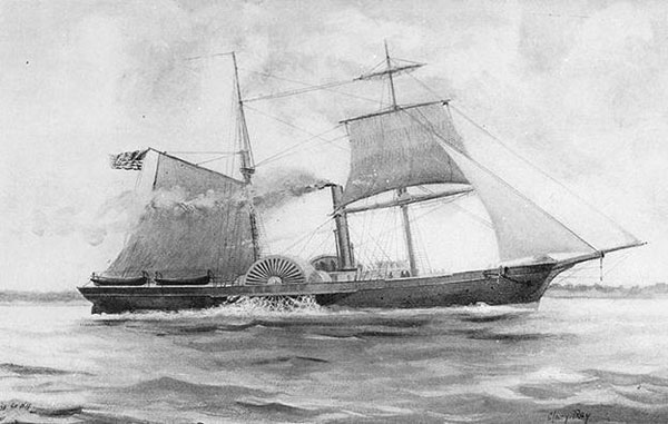 The Revenue Cutter Harriet Lane. Of course Lincoln wanted his taxes.