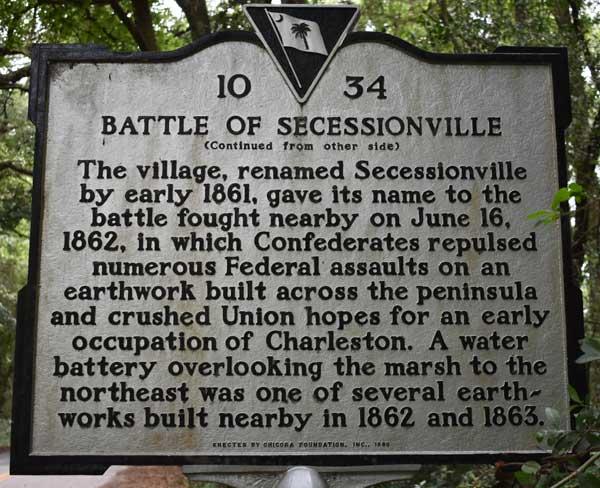 Historic Marker Secessionville 62K