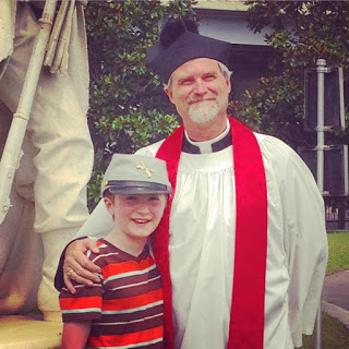 Rev. Larry Beane and his son.