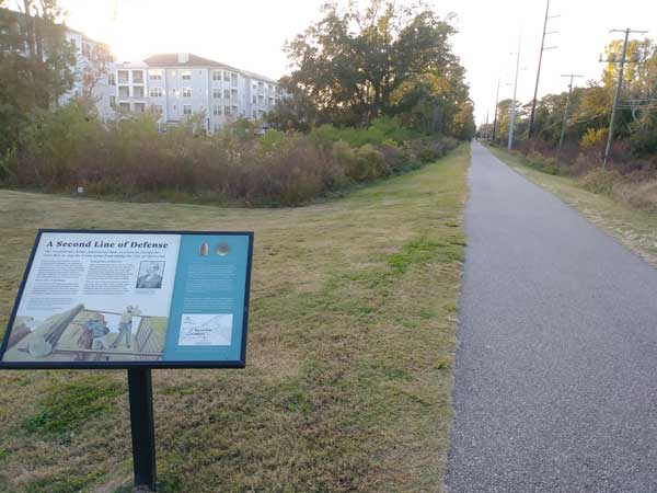 The West Ashley Greenway, former location of Charleston and Savannah RR tracks.