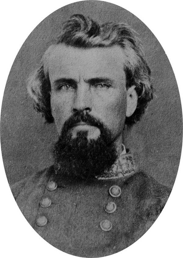 Lt. Gen. Nathan Bedford Forrest, Forrest's Cavalry Corps, CSA.