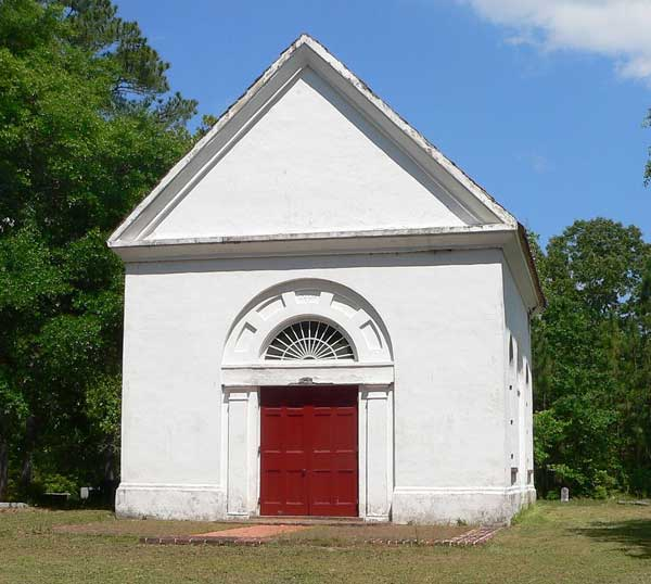 The Brick Church, a/k/a White Church, north of Cainhoy in Berkeley County, S.C.